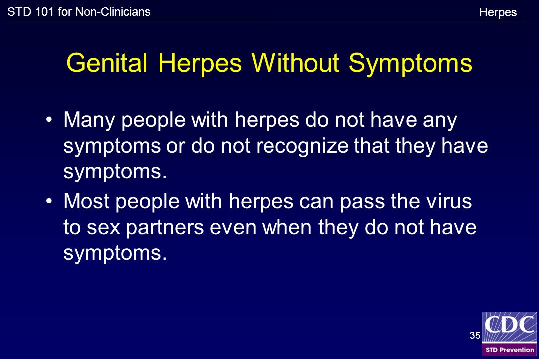 Genital Herpes Without Symptoms
