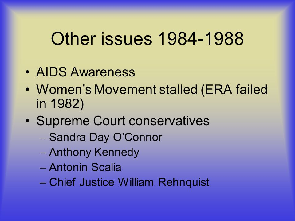 Other issues 1984-1988 AIDS Awareness