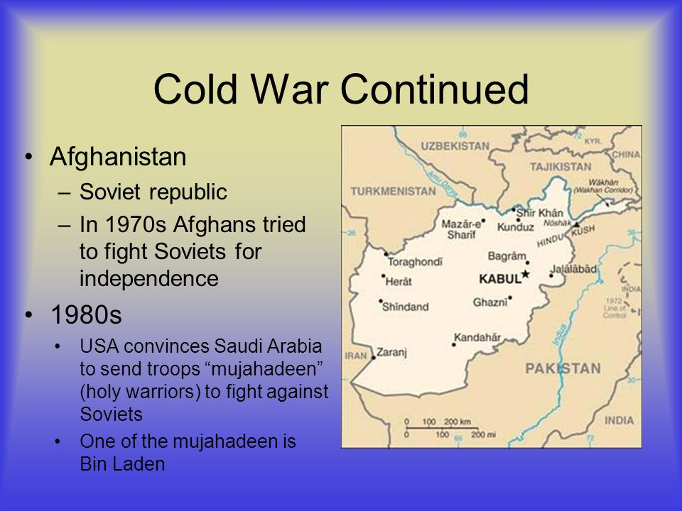 Cold War Continued Afghanistan 1980s Soviet republic