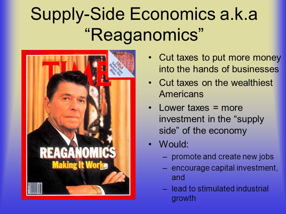 Supply-Side Economics a.k.a Reaganomics