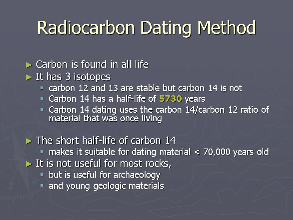 Carbon-14 Dating Is Not Used For