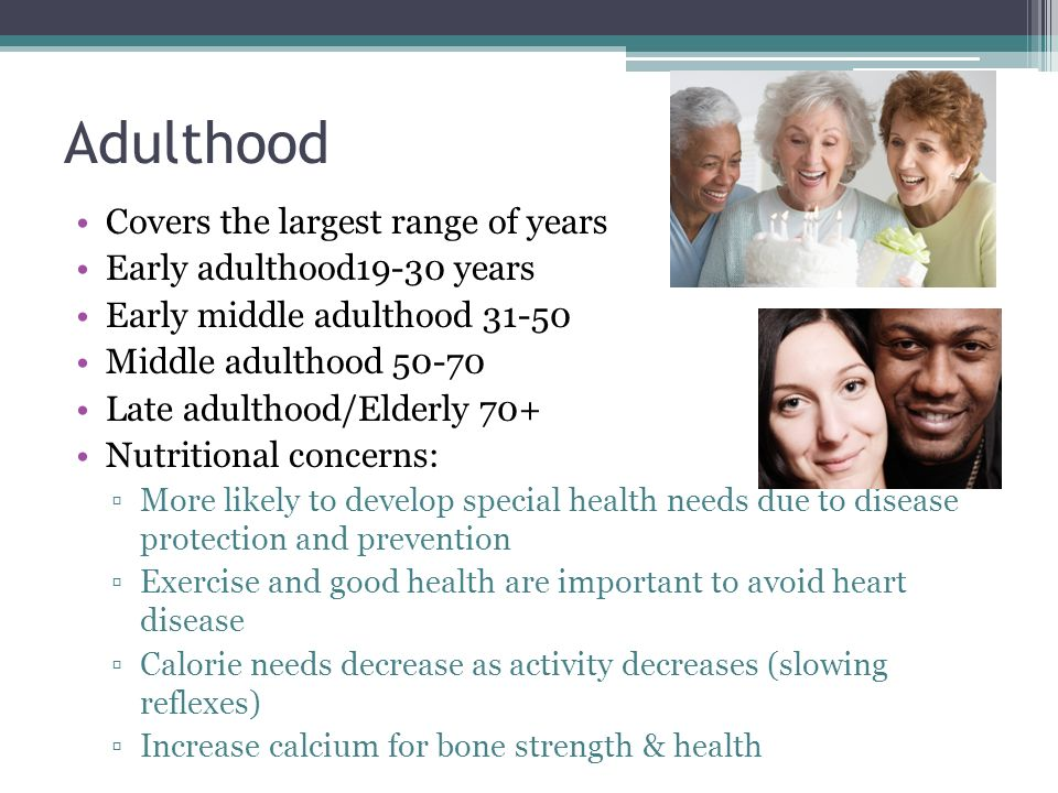 impact of healthy and unhealthy habbits during early and middle adulthhood Early and middle adulthood essay sample a brief examination of the immediate and future effect of healthy and unhealthy habits during early adulthood and.