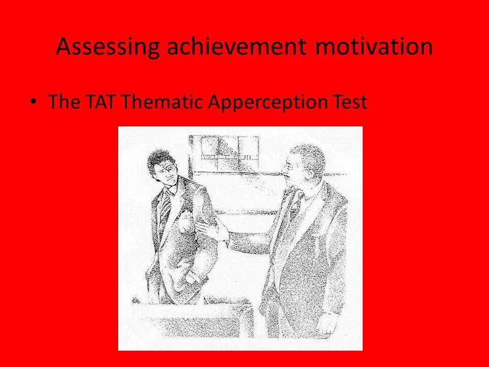 Assessing achievement motivation