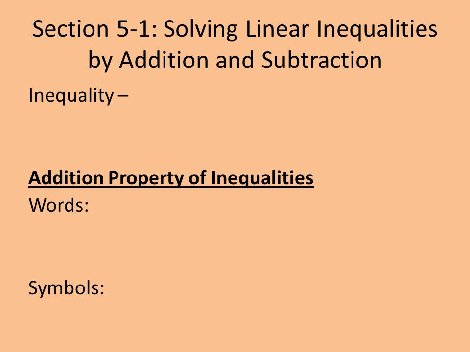 describe some of the inequalities on