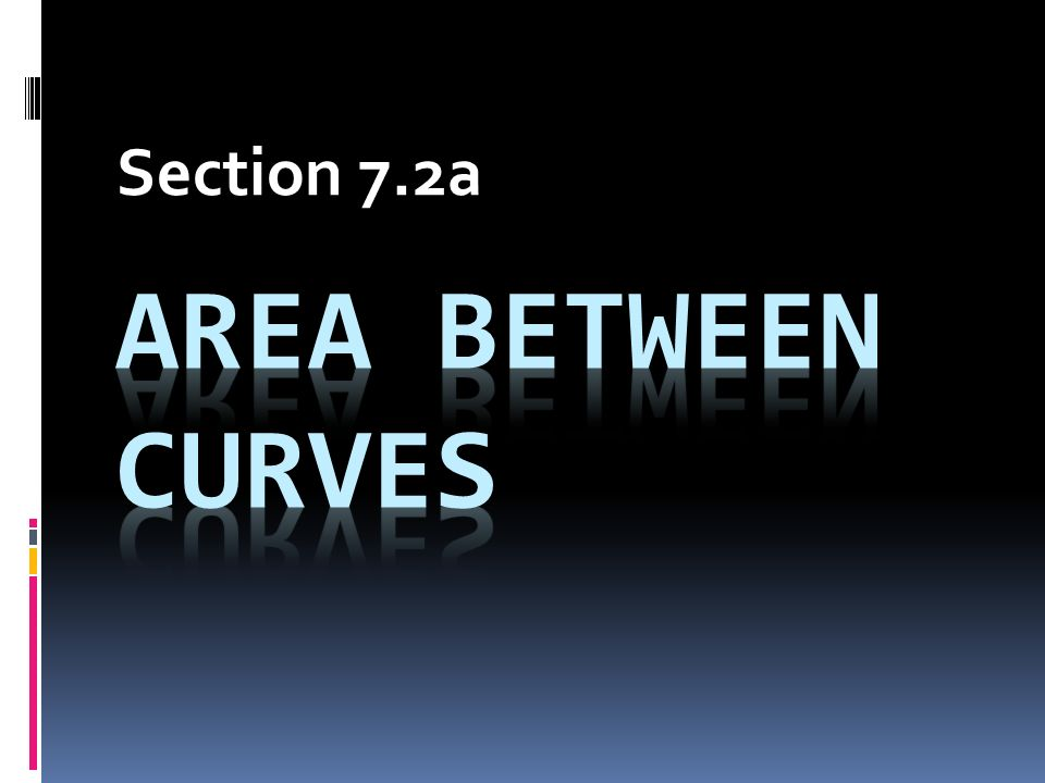 Section 7.2a Area between curves