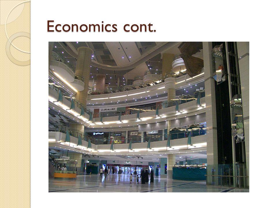 Economics cont.