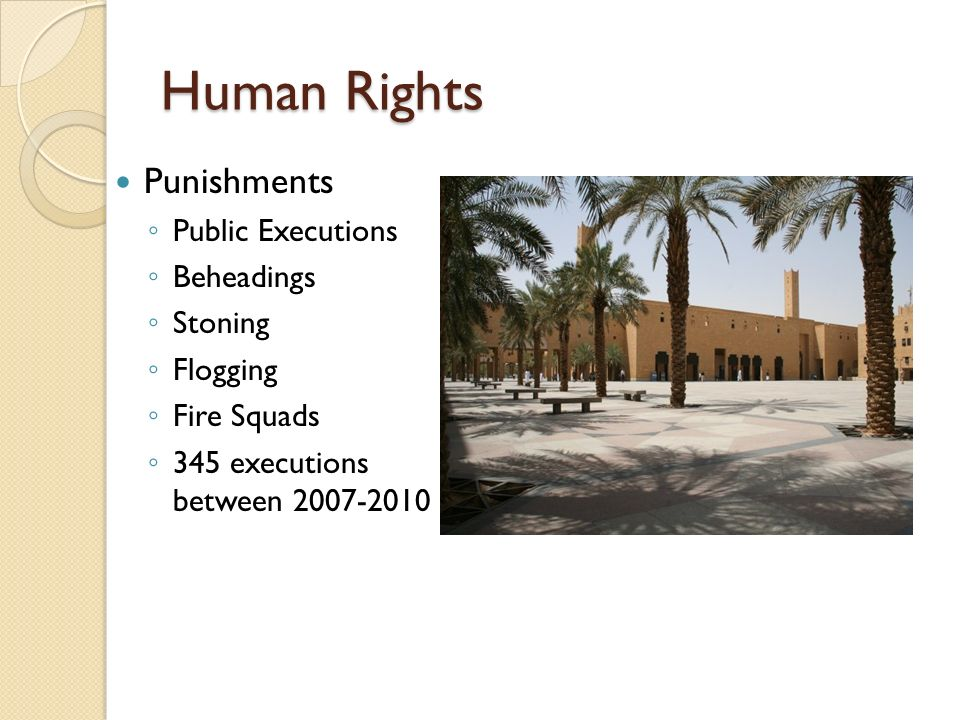 Human Rights Punishments Public Executions Beheadings Stoning Flogging