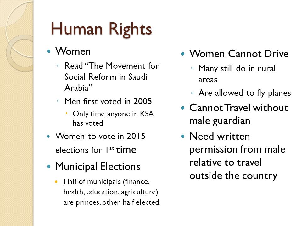Human Rights Women Women Cannot Drive