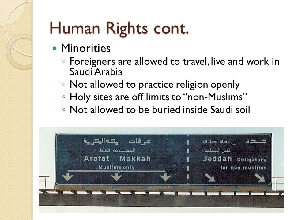 Human Rights cont. Minorities