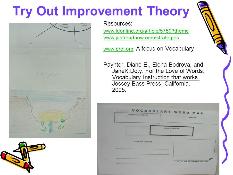 Try Out Improvement Theory