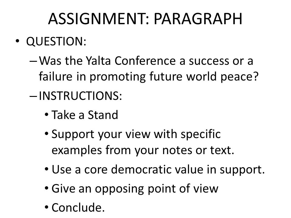 ASSIGNMENT: PARAGRAPH
