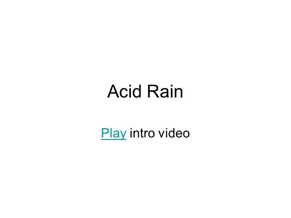 Acid Rain Play intro video