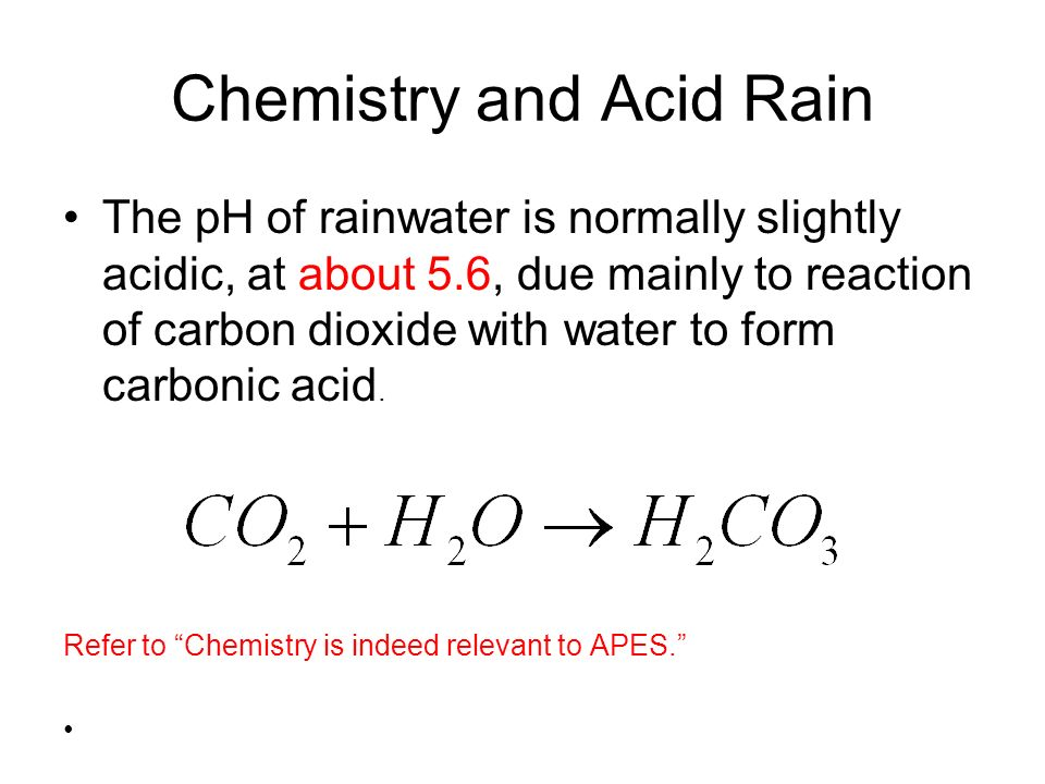 Chemistry and Acid Rain