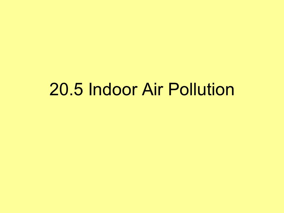 20.5 Indoor Air Pollution