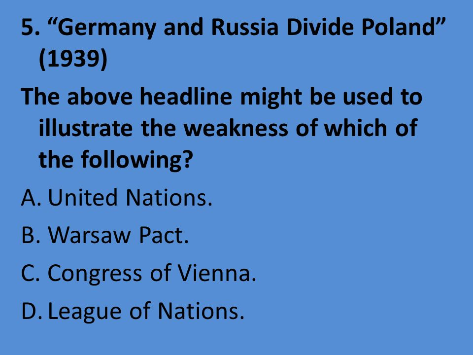 5. Germany and Russia Divide Poland (1939)