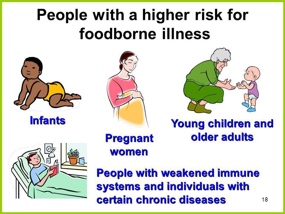 People with a higher risk for foodborne illness