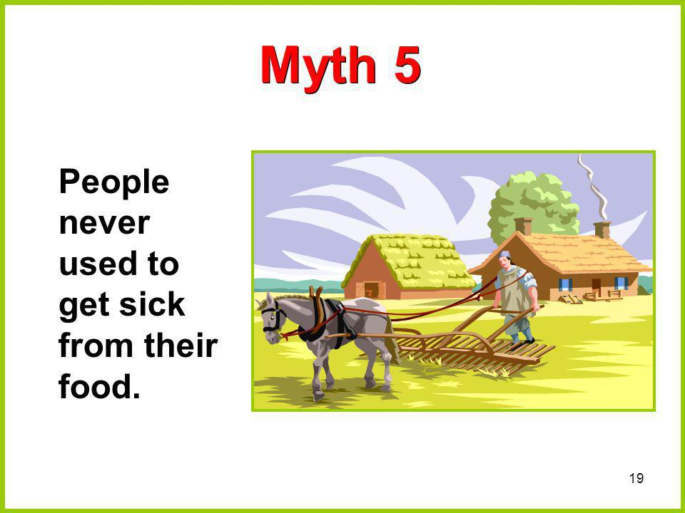 Myth 5 People never used to get sick from their food.