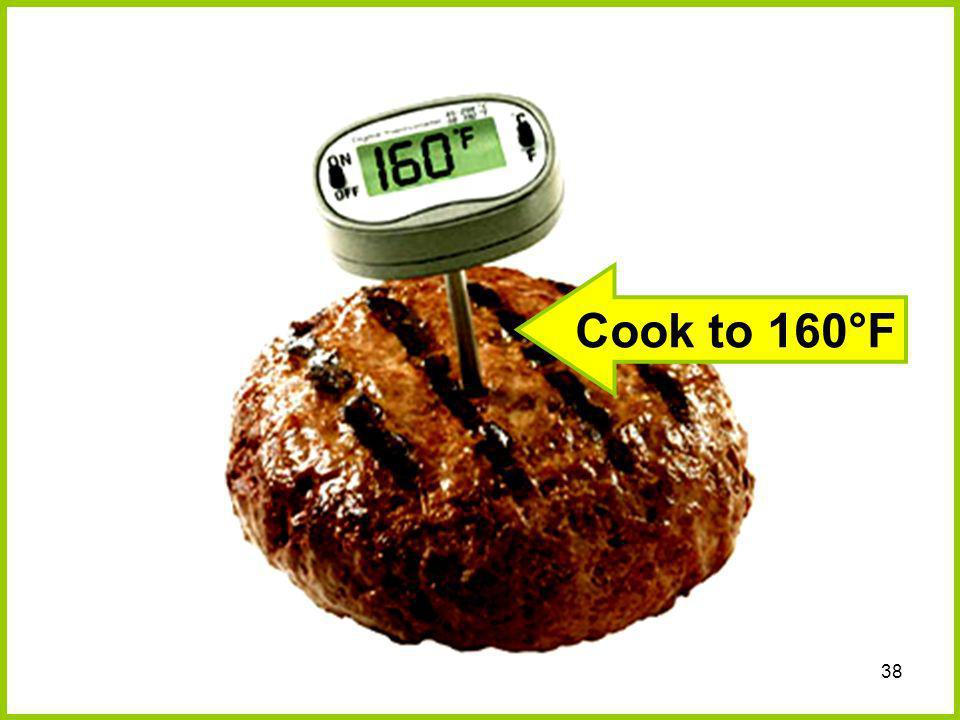 Cook to 160°F
