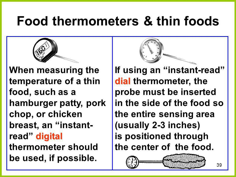 Food thermometers & thin foods