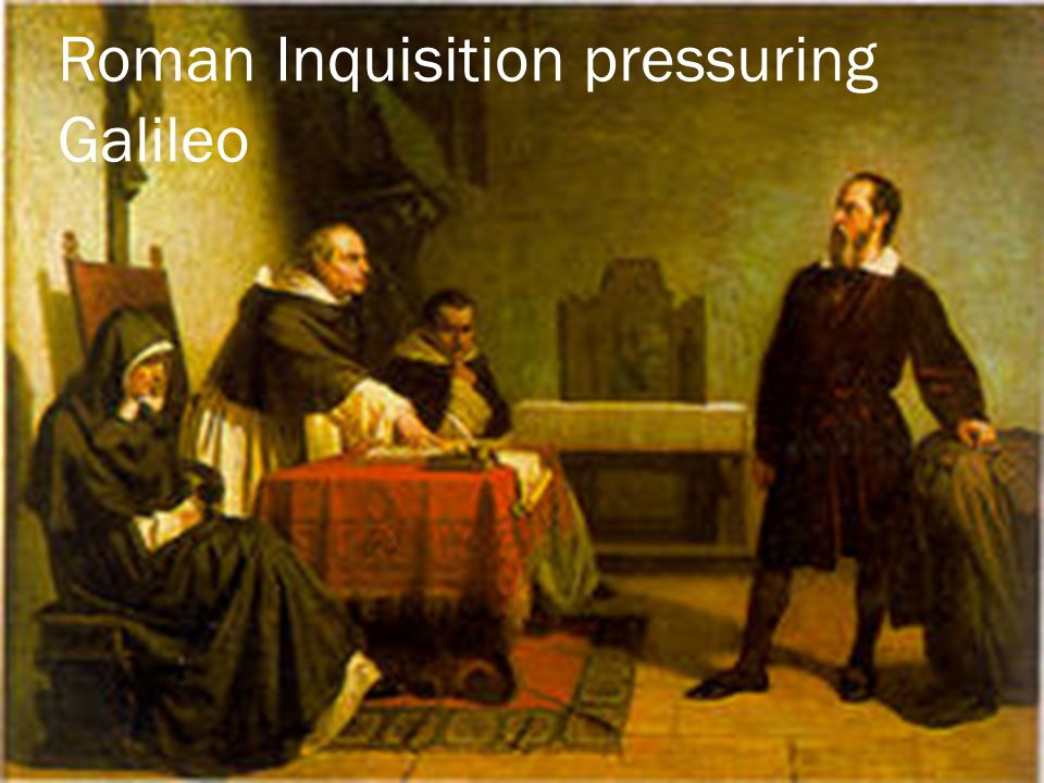 Roman Inquisition pressuring Galileo