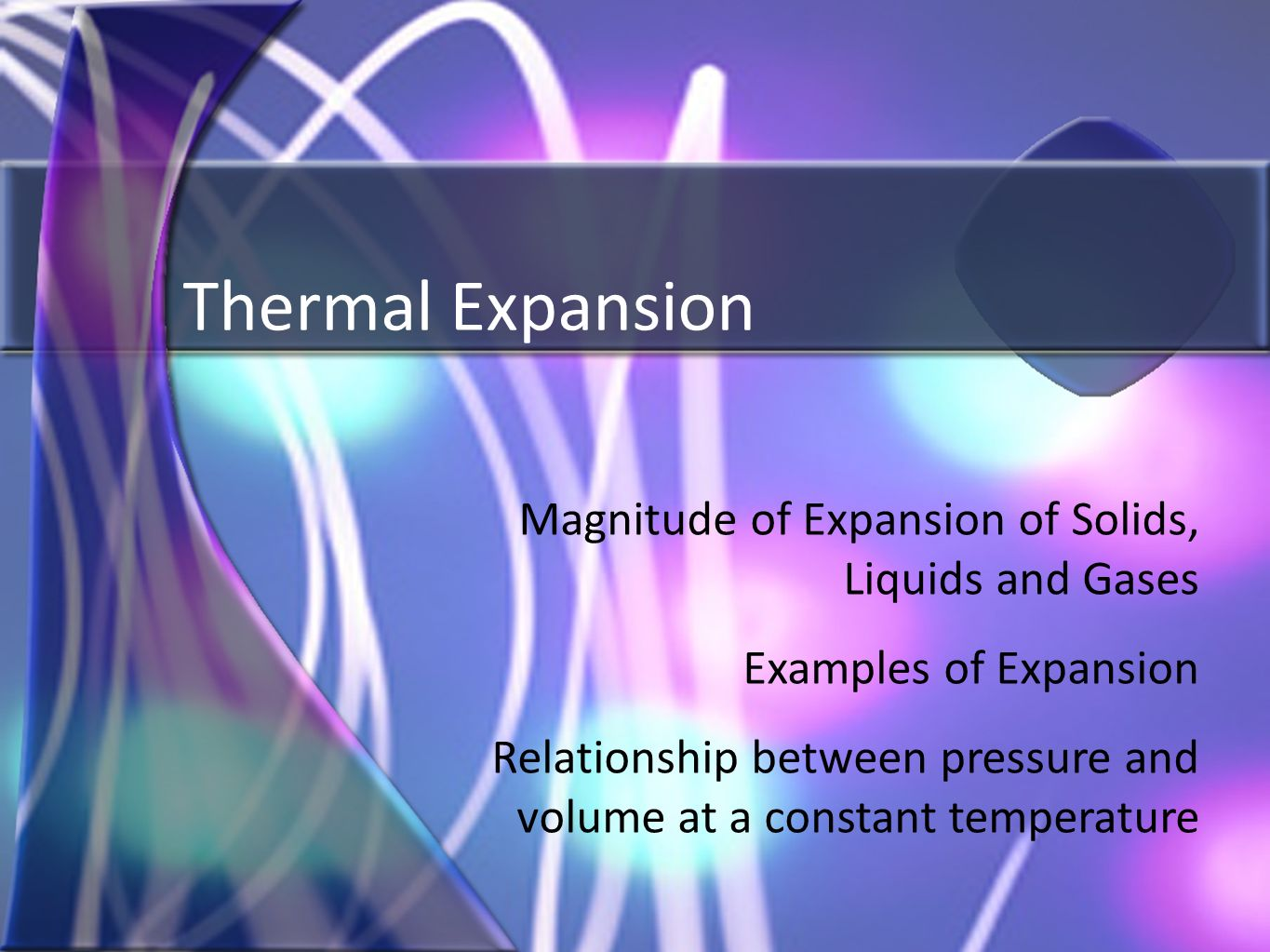 volume pressure and temperature relationship examples