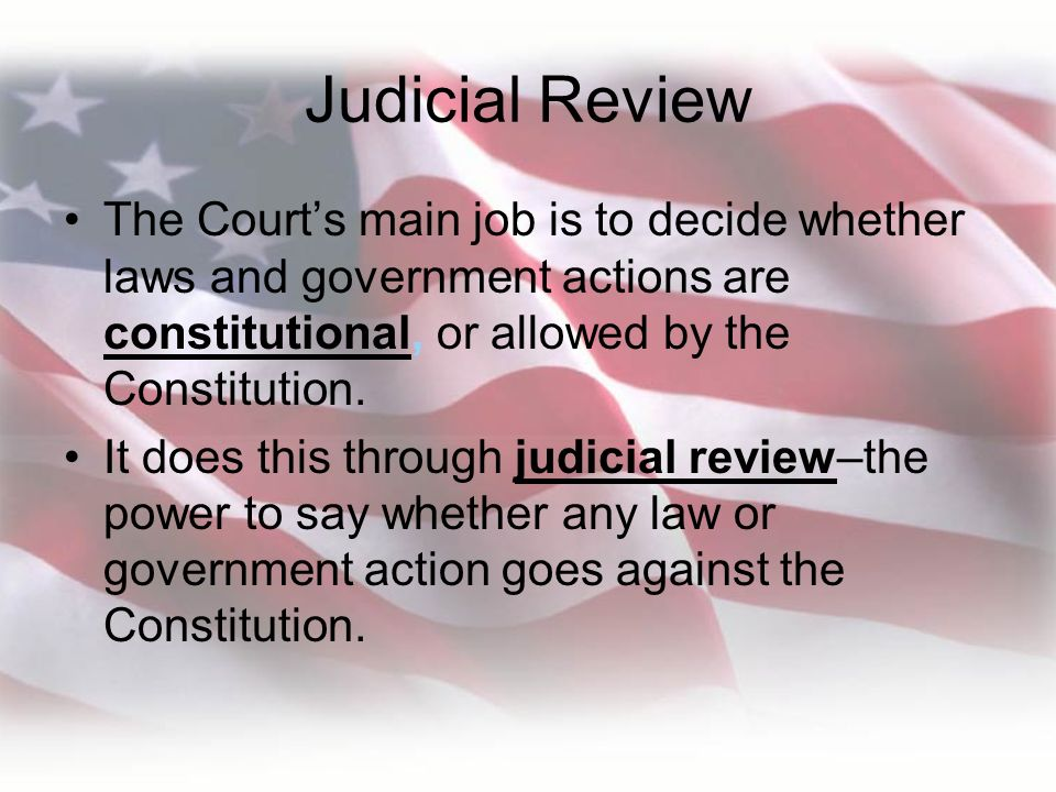Influences on Judicial Power