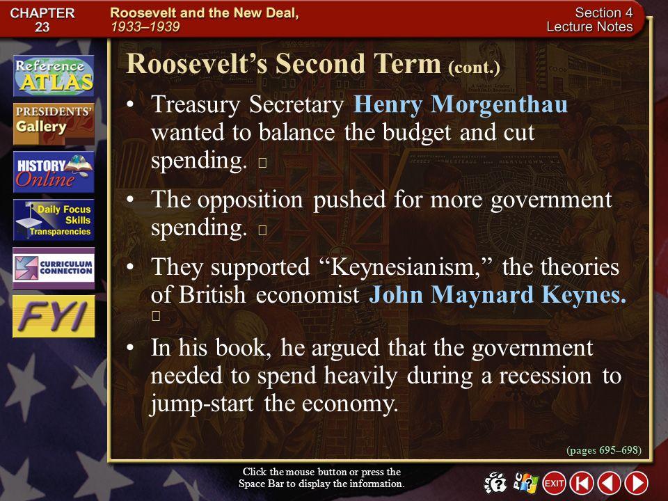 Roosevelt's Second Term (cont.)