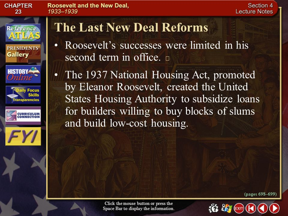 The Last New Deal Reforms