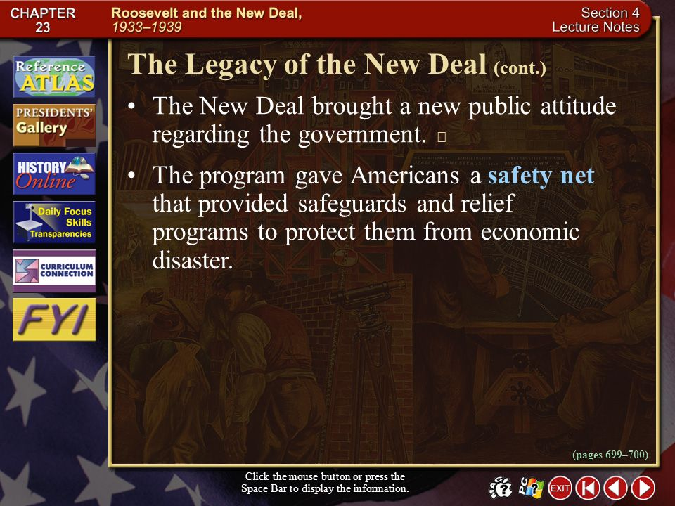 The Legacy of the New Deal (cont.)