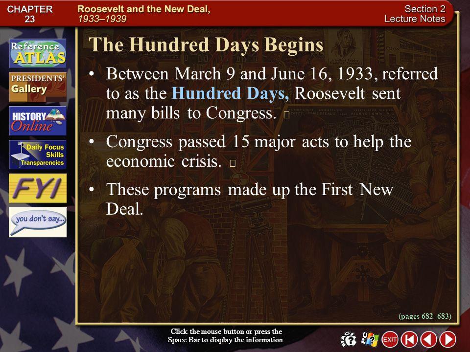 The Hundred Days Begins