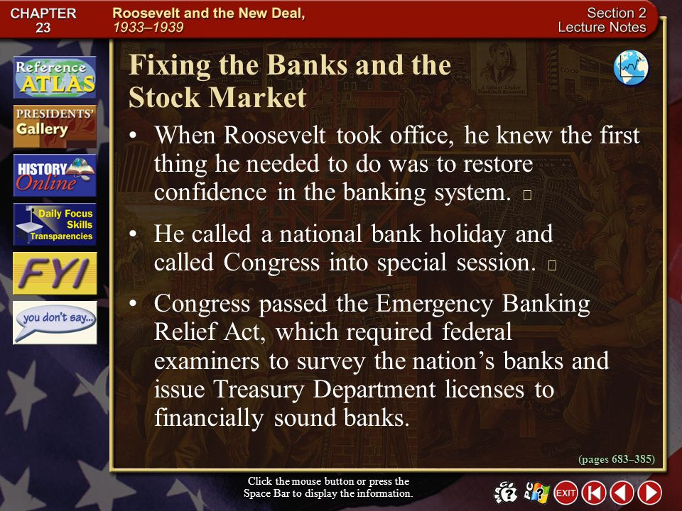 Fixing the Banks and the Stock Market