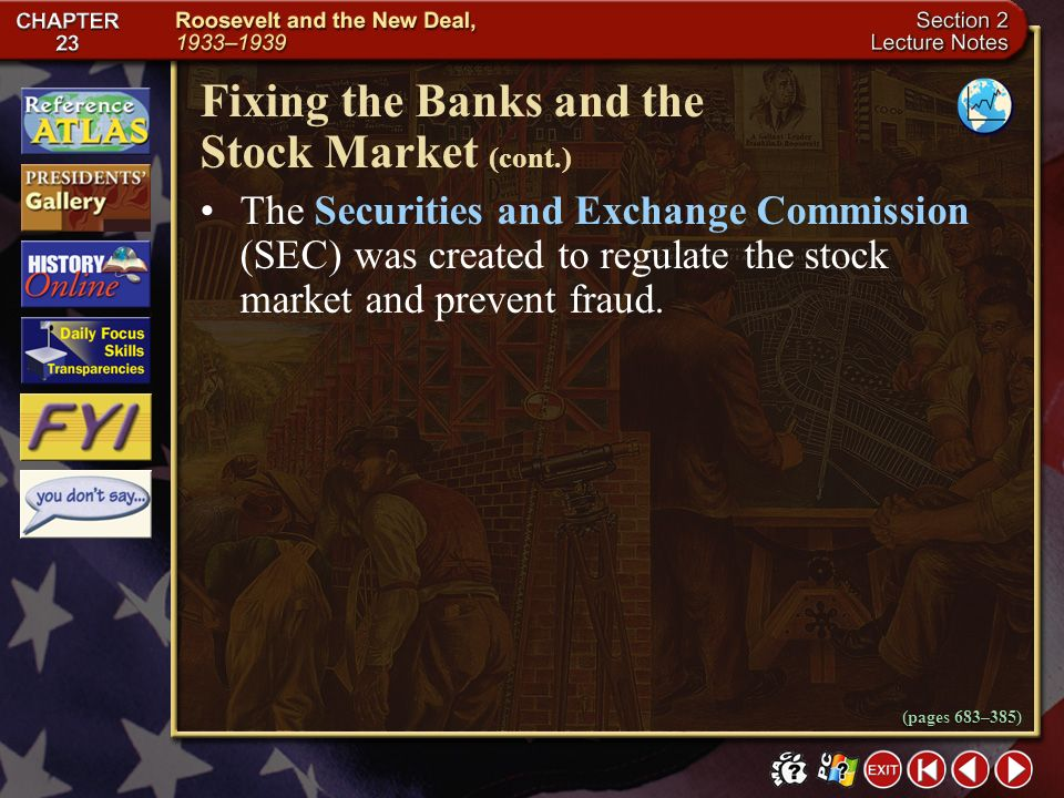 Fixing the Banks and the Stock Market (cont.)