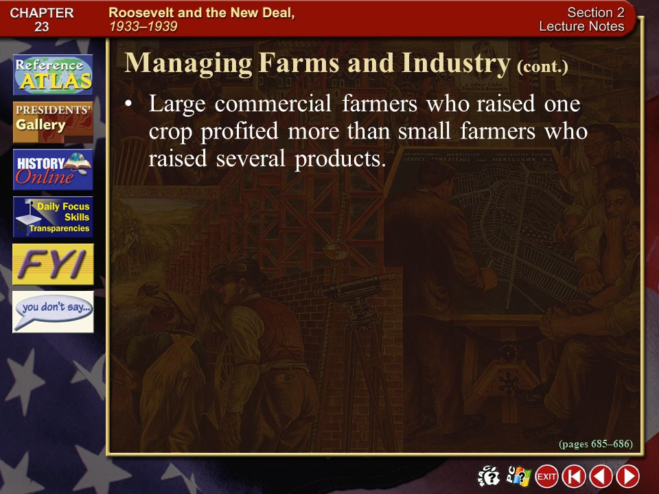 Managing Farms and Industry (cont.)