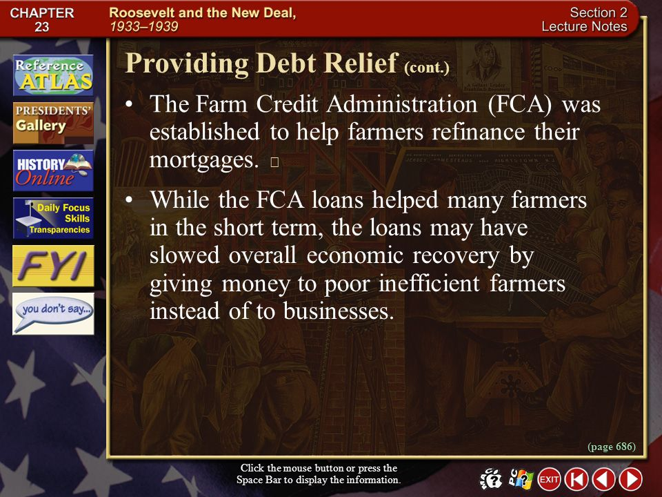 Providing Debt Relief (cont.)