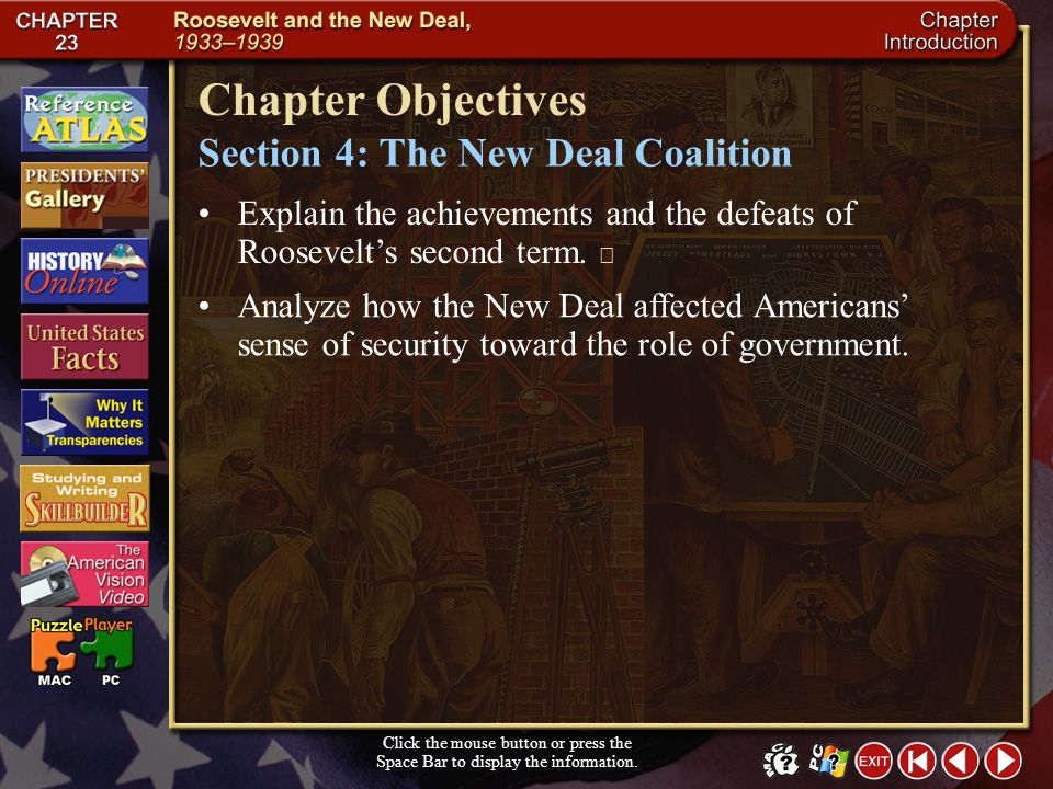 Chapter Objectives Section 4: The New Deal Coalition