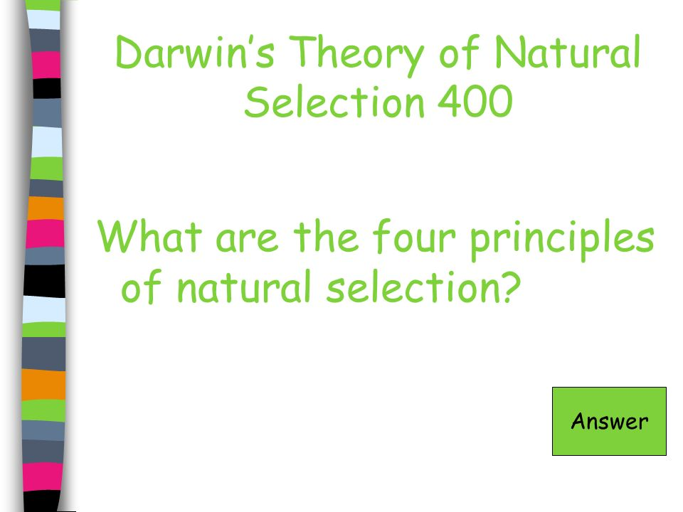 Darwin's Theory of Natural Selection 400