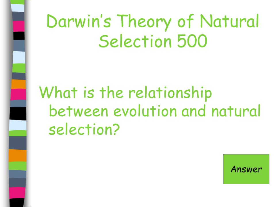Darwin's Theory of Natural Selection 500