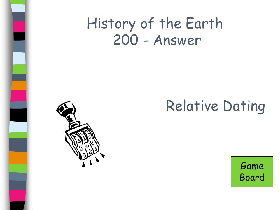 History of the Earth 200 - Answer