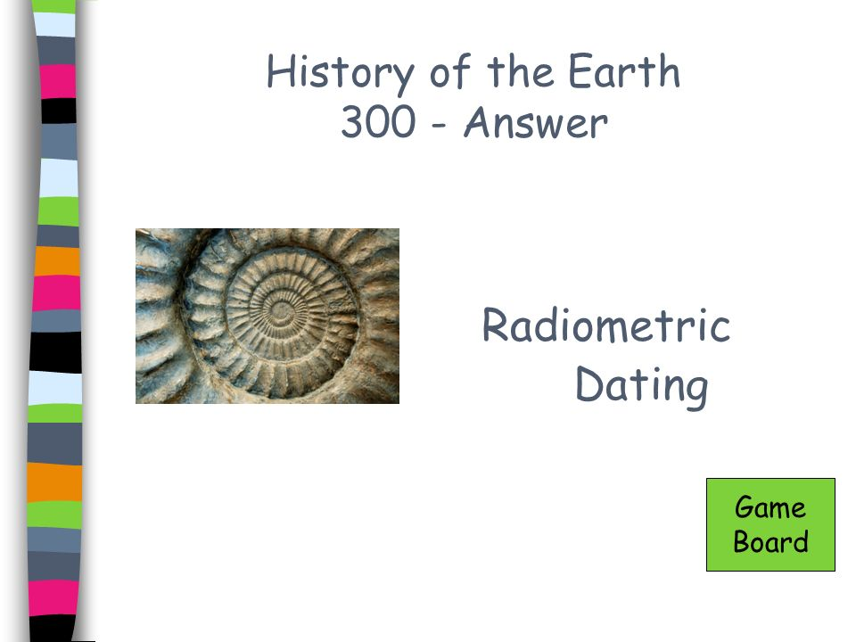 History of the Earth 300 - Answer