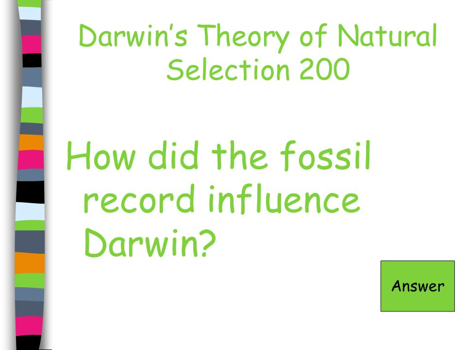 Darwin's Theory of Natural Selection 200