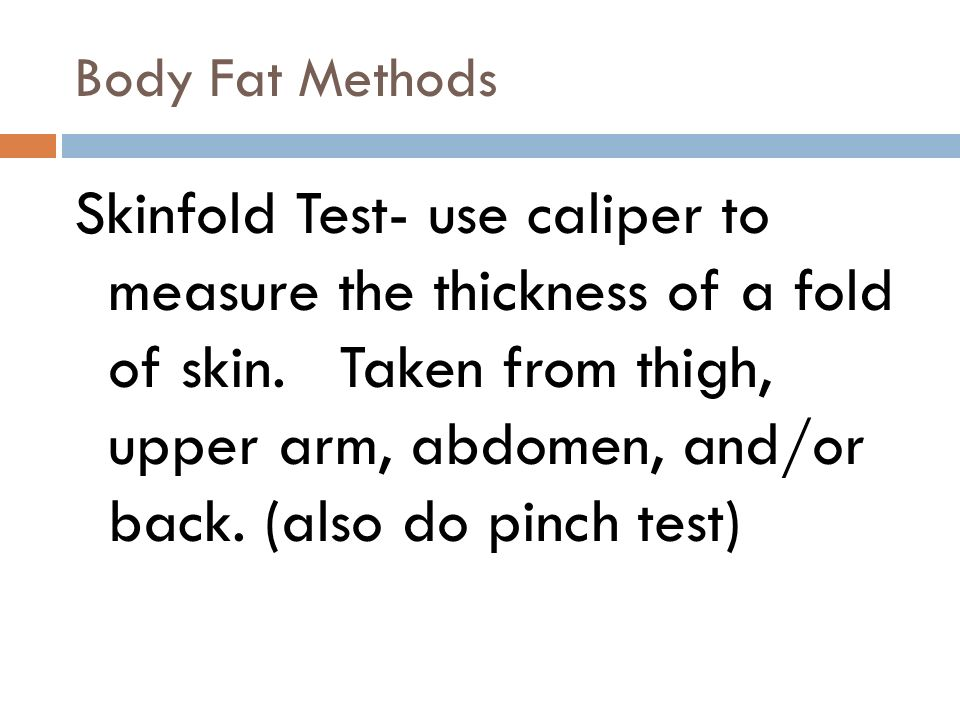 Body Fat Methods