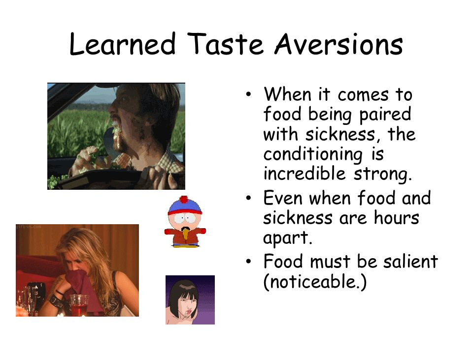 Learned Taste Aversions