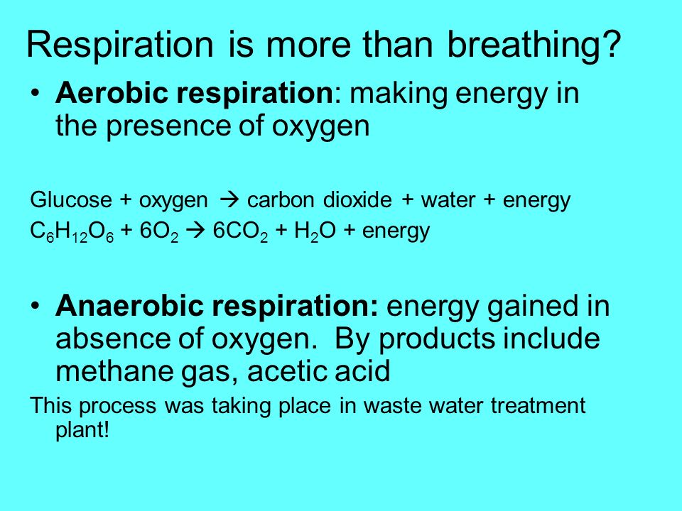 Respiration is more than breathing