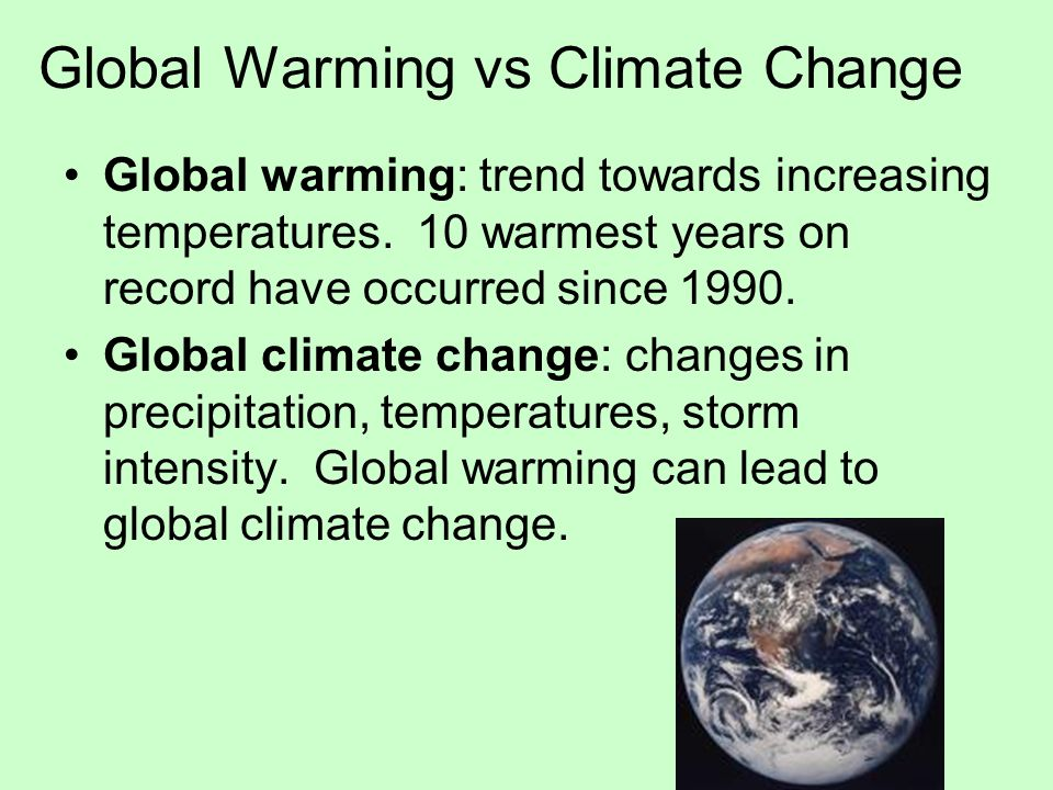 Global Warming vs Climate Change