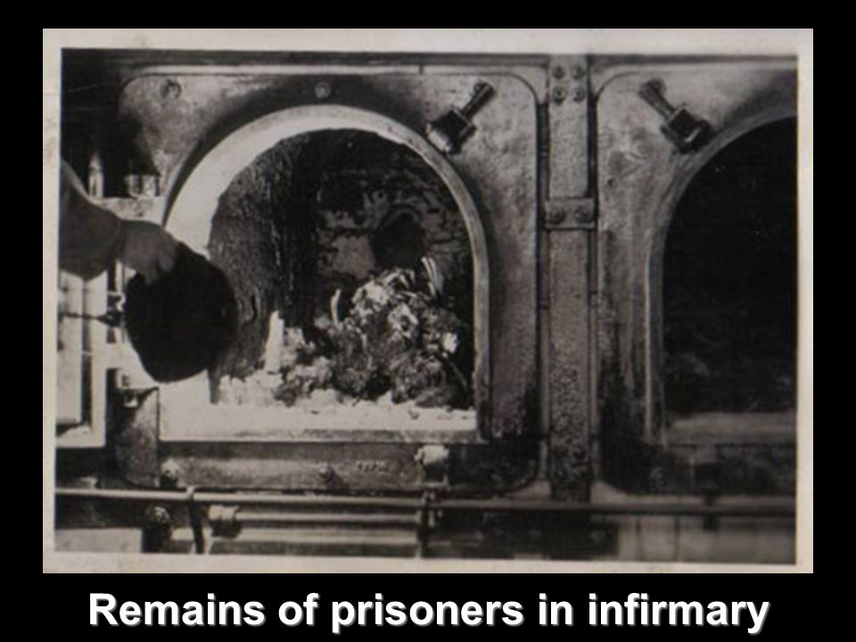 Remains of prisoners in infirmary