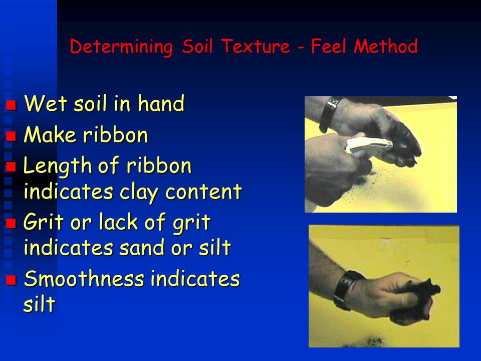 Determining Soil Texture - Feel Method