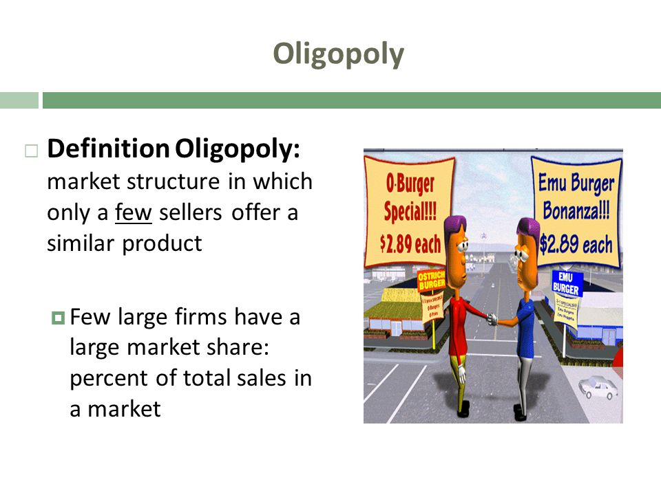 oligopoly market of soft drink essay In an oligopoly, there are only few firms operating in the market and so, the   one can find oligopoly in industries like a cold drink, automobile,.