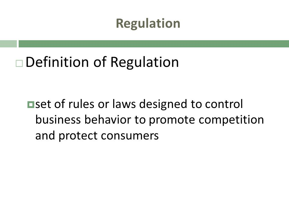 Definition of Regulation