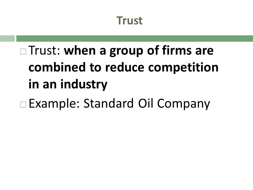 Example: Standard Oil Company
