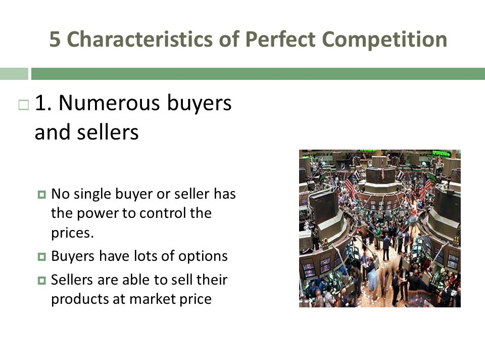 the characteristics of a perfectly competitive A narrated prezi presentation describing the features of perfectly competitive market structures.
